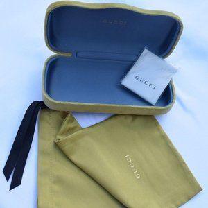 Gucci Velvet Hard Sunglass Case w Satin Bag-M